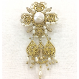 Broche Blanche Satellite